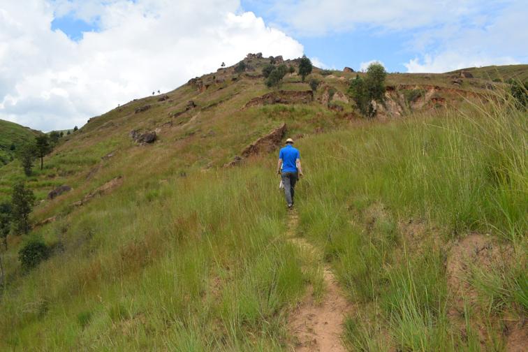 NaTiNo e.V. in Madagaskar - Auf dem Weg zu den gepflanzten Bäumen.
